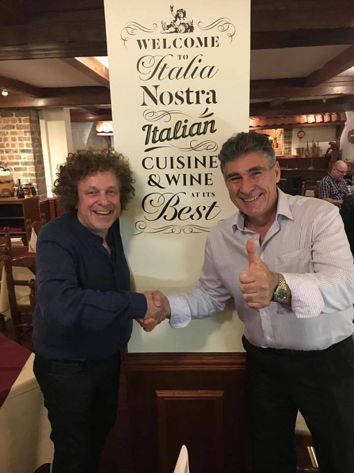 Italia Nostra Stirling Nicola meets Leo Sayer