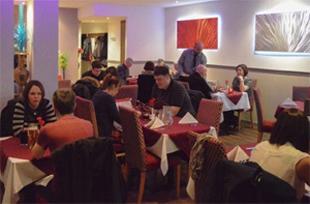 maharaja restaurant dining area